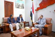 اللواء بن بريك يناقش مع عضو الجمعية الوطنية الحامد مستجدات الأوضاع في وادي حضرموت