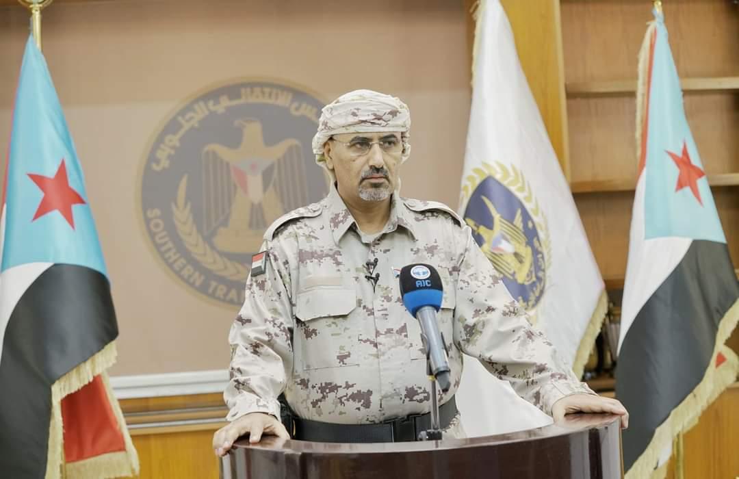 الرئيس القائد عيدروس الزُبيدي يوجّه خطاباً هاماً ويعلن حالة الطوارئ والتعبئة العامة في عموم محافظات الجنوب