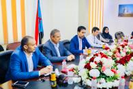 الغيثي يستقبل المدير الإقليمي لمؤسسة فريدريش إيبرت الألمانية السيد أخيم فوجيت