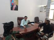 رئيس تنفيذية انتقالي أبين يلتقي قائدي المقاومة الجنوبية والحزام الأمني في المنطقة الوسطى